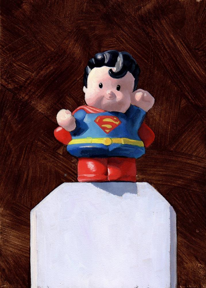 """""""#328 Just Super"""" original fine art by Brian Burt"""