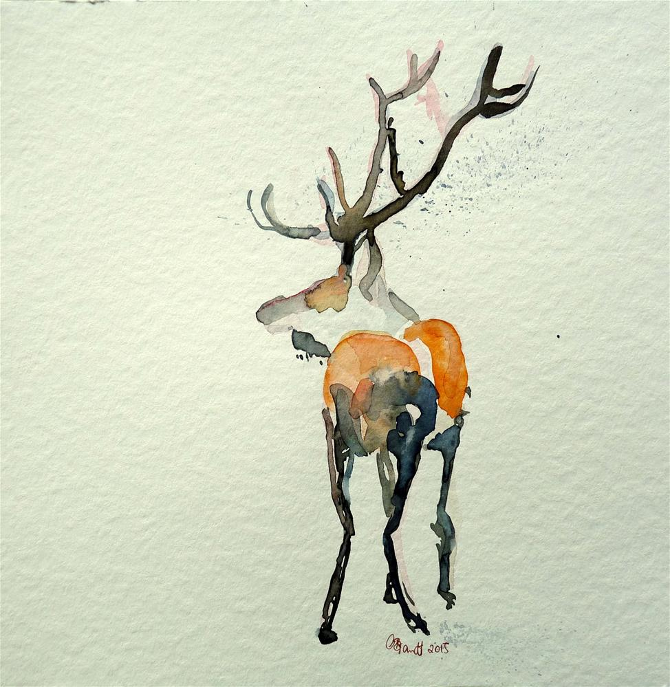 """Deer No.3"" original fine art by Claudia Brandt"