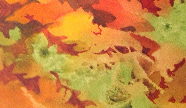 """Leaf Shapes"" original fine art by Margie Whittington"