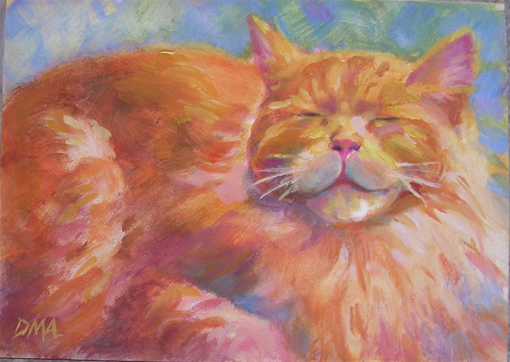 """Big Fluffball"" original fine art by Debra Ames"