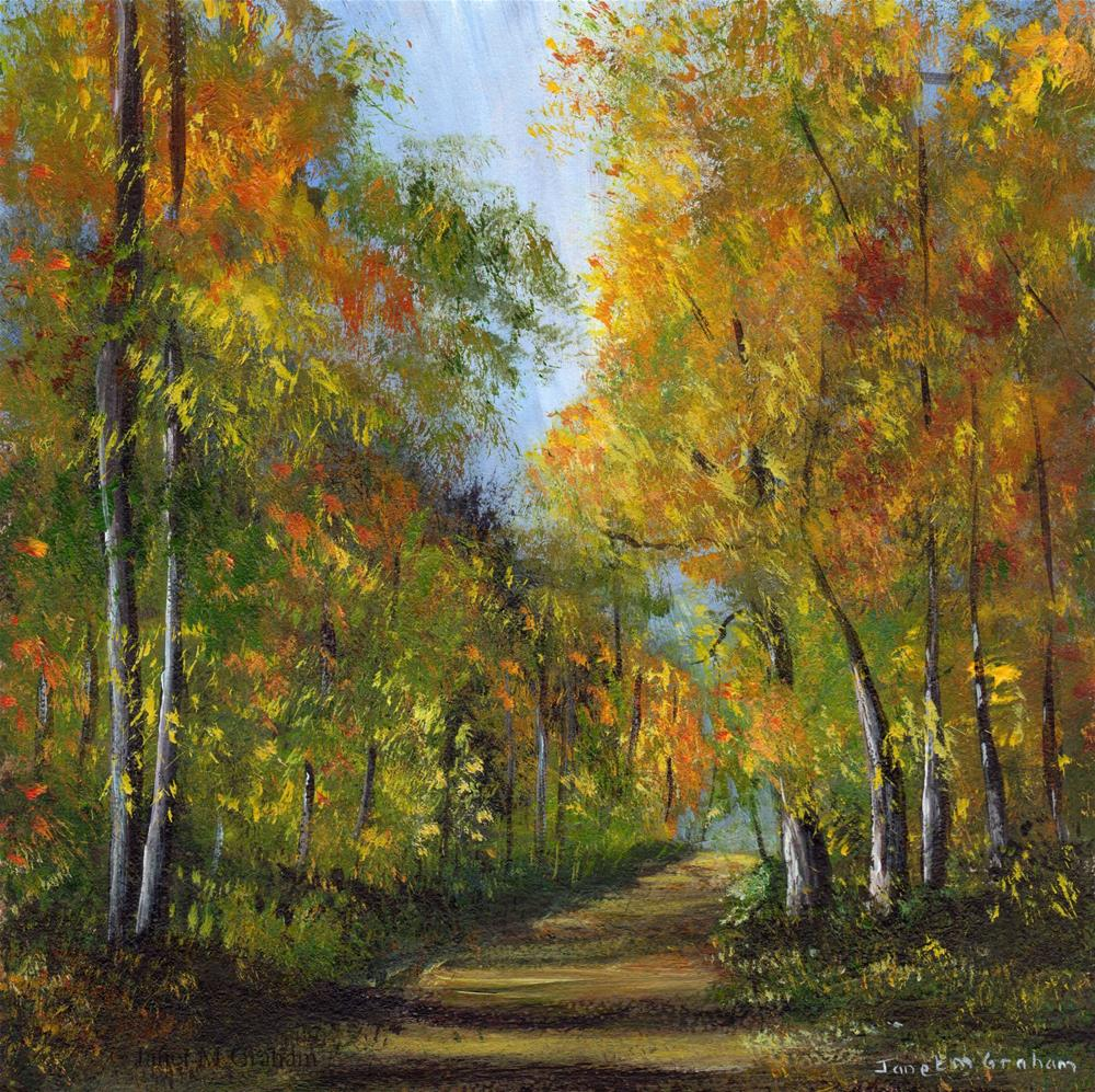 """Autumn Days"" original fine art by Janet Graham"