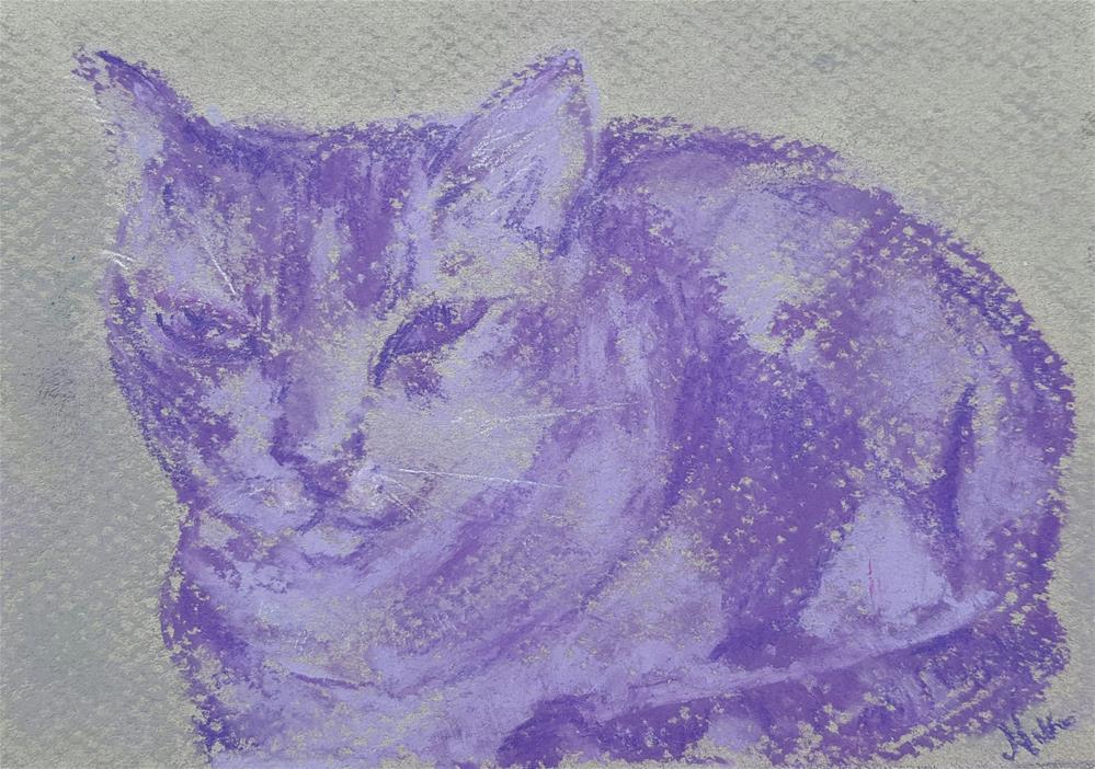 """Purple Cat"" original fine art by Niki Hilsabeck"