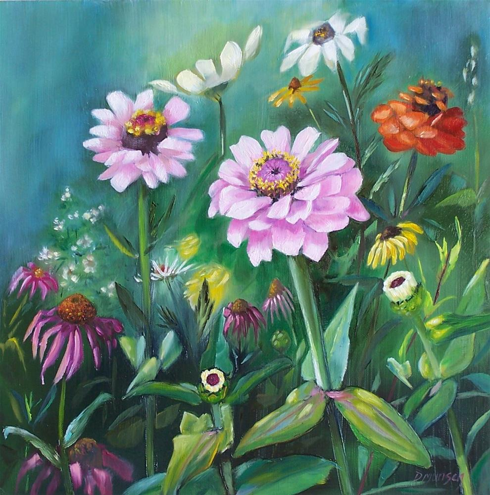 """Just an Old Fashion Flower Garden"" original fine art by Donna Munsch"