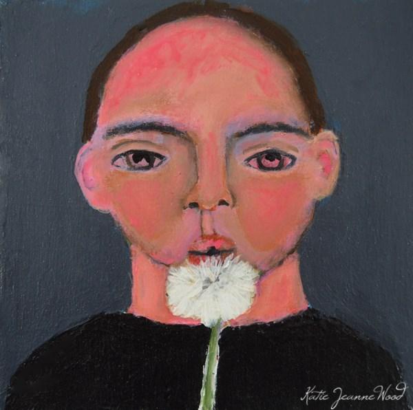"""""""Little Dude No 2"""" original fine art by Katie Jeanne Wood"""