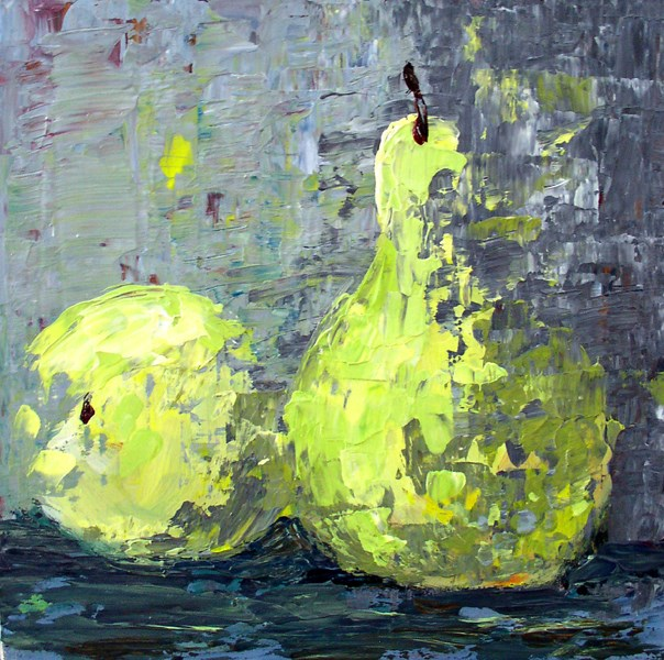 """Pear Pair"" original fine art by Anna Vreman"