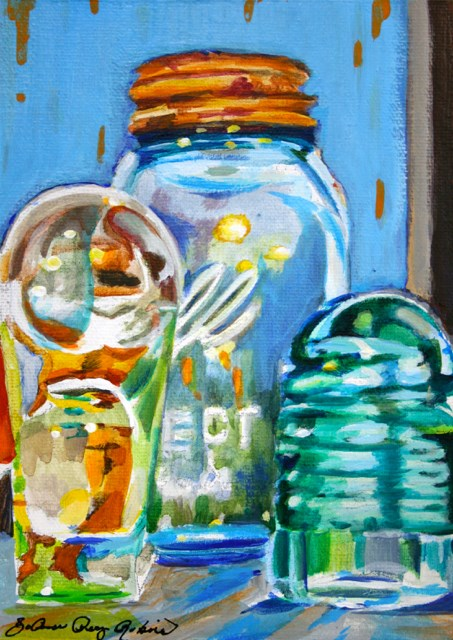 """Glass on the Window Sill"" original fine art by JoAnne Perez Robinson"