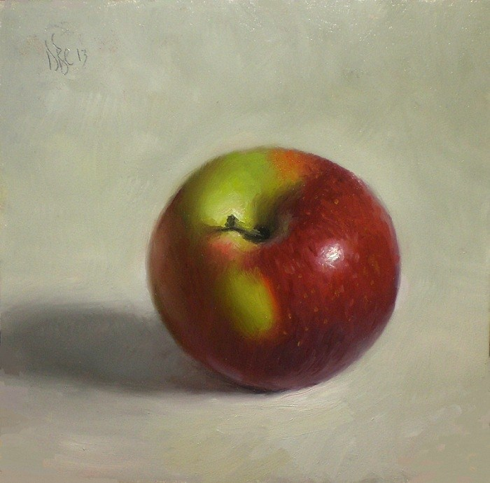 """McIntosh Apple"" original fine art by Debra Becks Cooper"