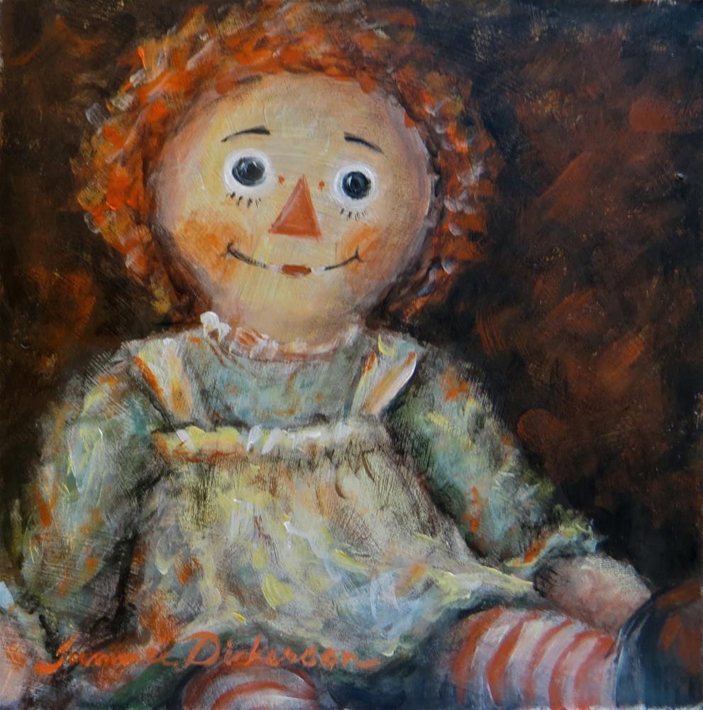 """Raggedy Ann"" original fine art by Tammie Dickerson"