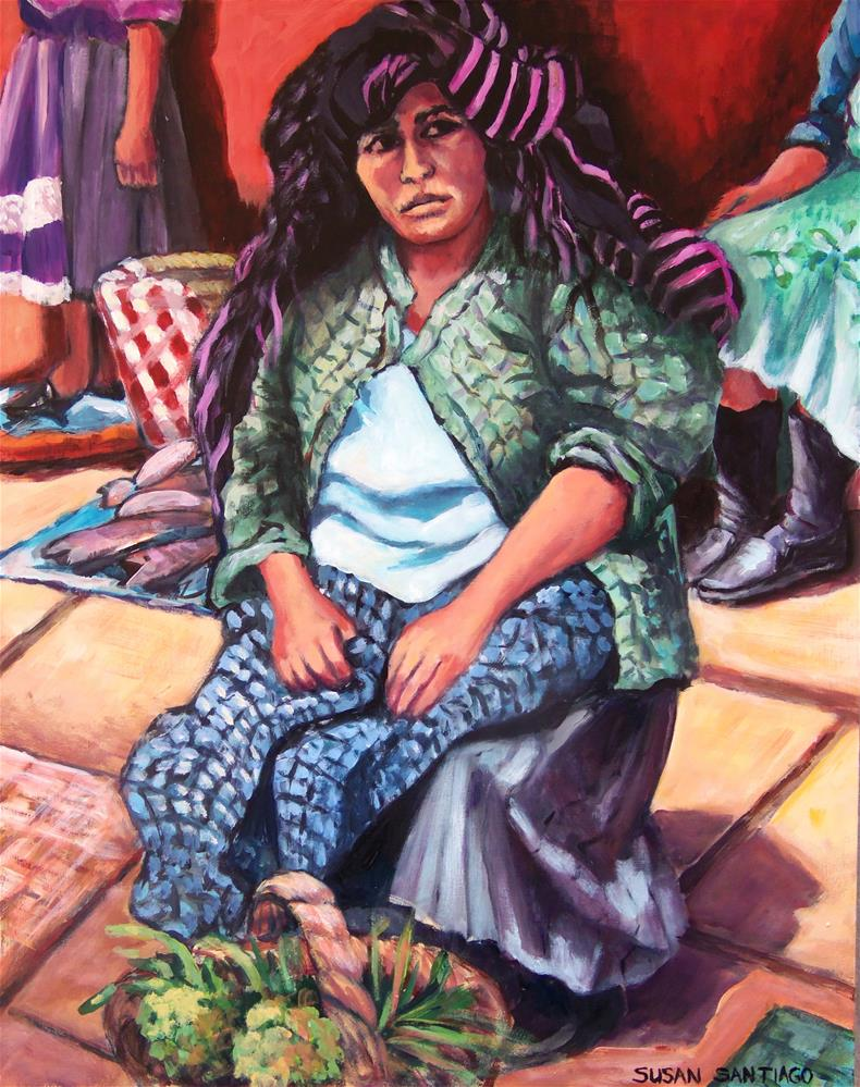 """Woman from Patzcuaro"" original fine art by Susan Santiago"