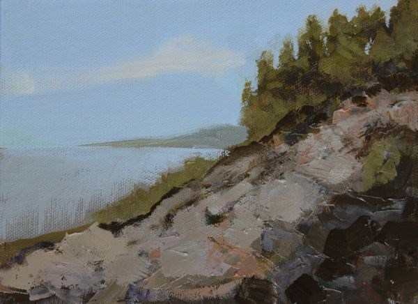 """Landscape, Seascape Oil Painting Maine-Study #1 by Colorado Landscape Artist Susan Fowler"" original fine art by Susan Fowler"