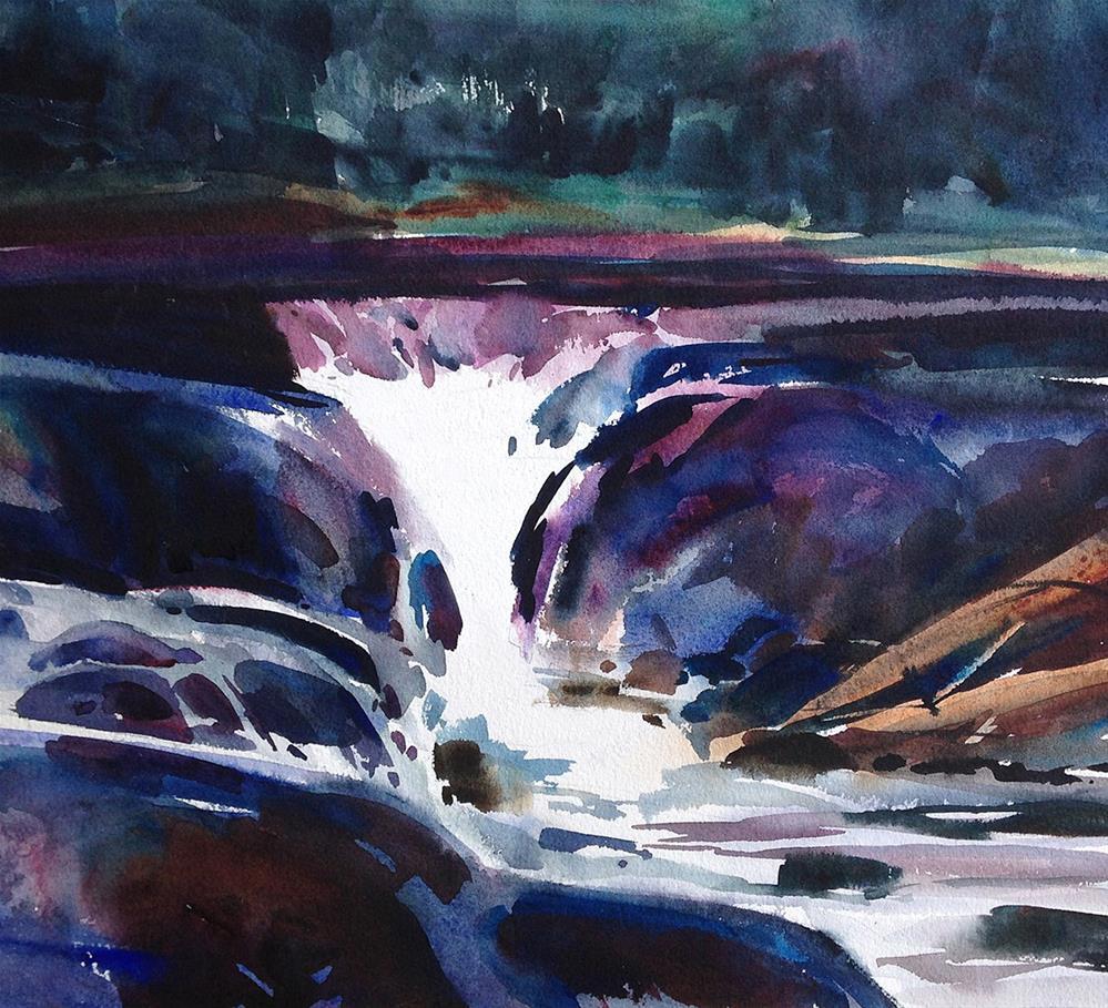 """Bond Falls River"" original fine art by Stephen Ravenscraft"