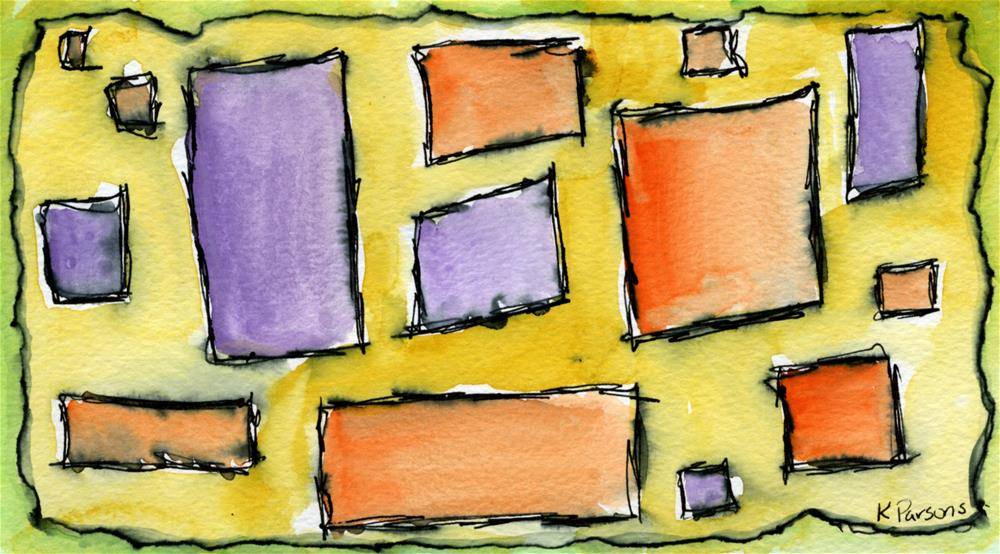 """Rectangles and Squares"" original fine art by Kali Parsons"