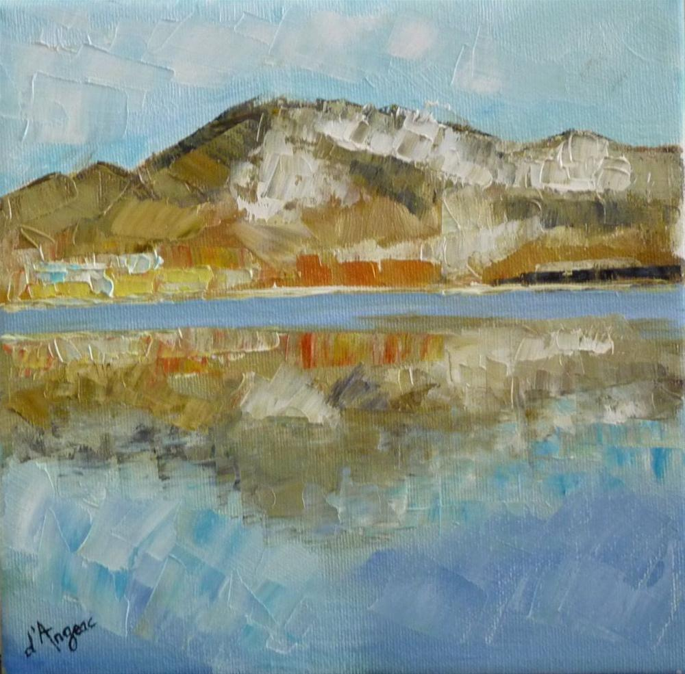 """Mountain Reflection"" original fine art by Karen D'angeac Mihm"