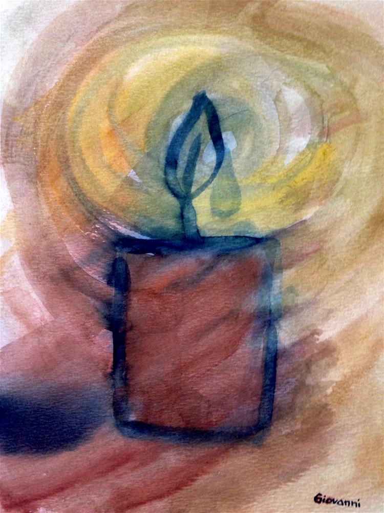 """Abstract #5 (Lighted candle)"" original fine art by Giovanni Antunez"