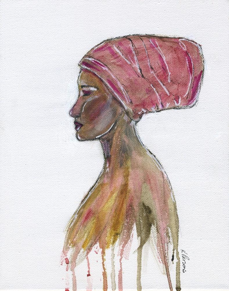 """Her Soul Wept"" original fine art by Kali Parsons"