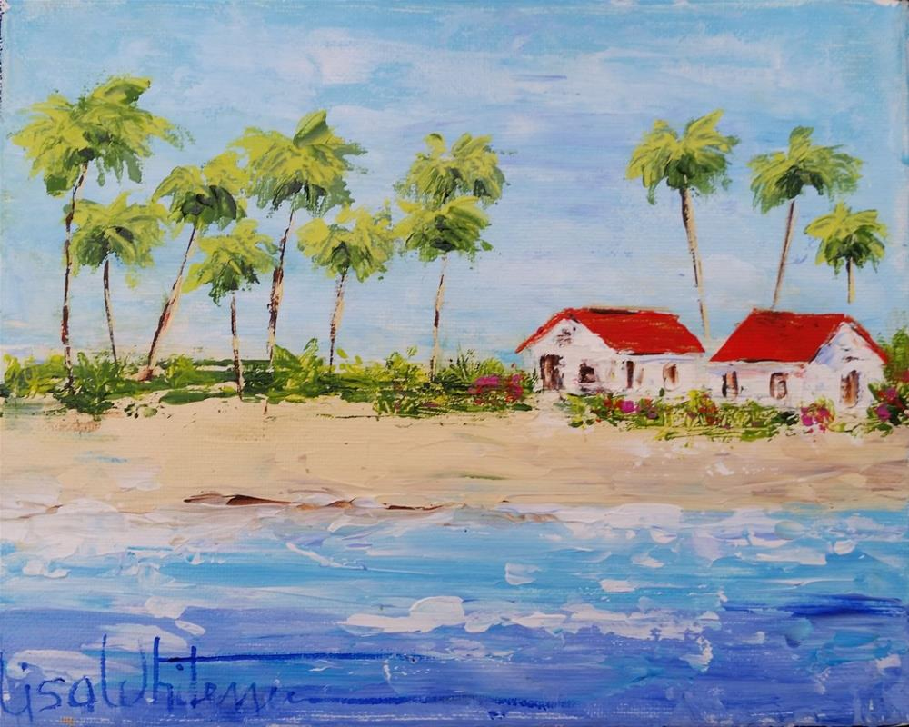 """60 - Some Beach"" original fine art by Lisa Rogers"