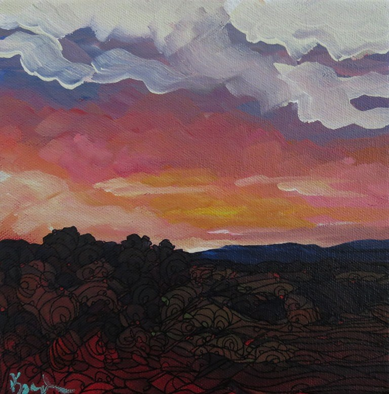 """SANDIA GLOW"" original fine art by Dee Sanchez"
