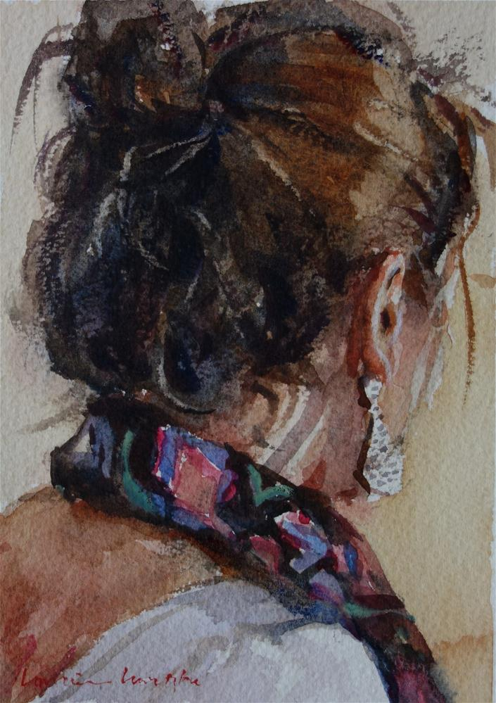 """Scrunchy hair"" original fine art by Lorraine Lewitzka"