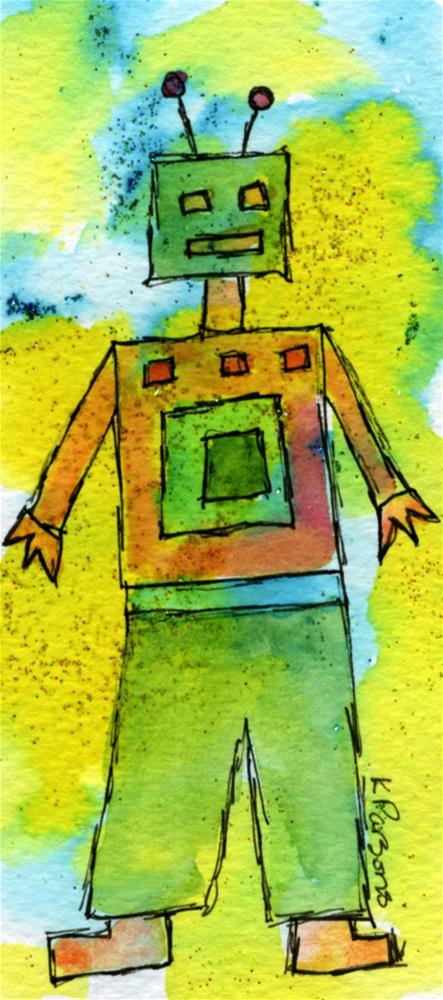"""I Robot"" original fine art by Kali Parsons"