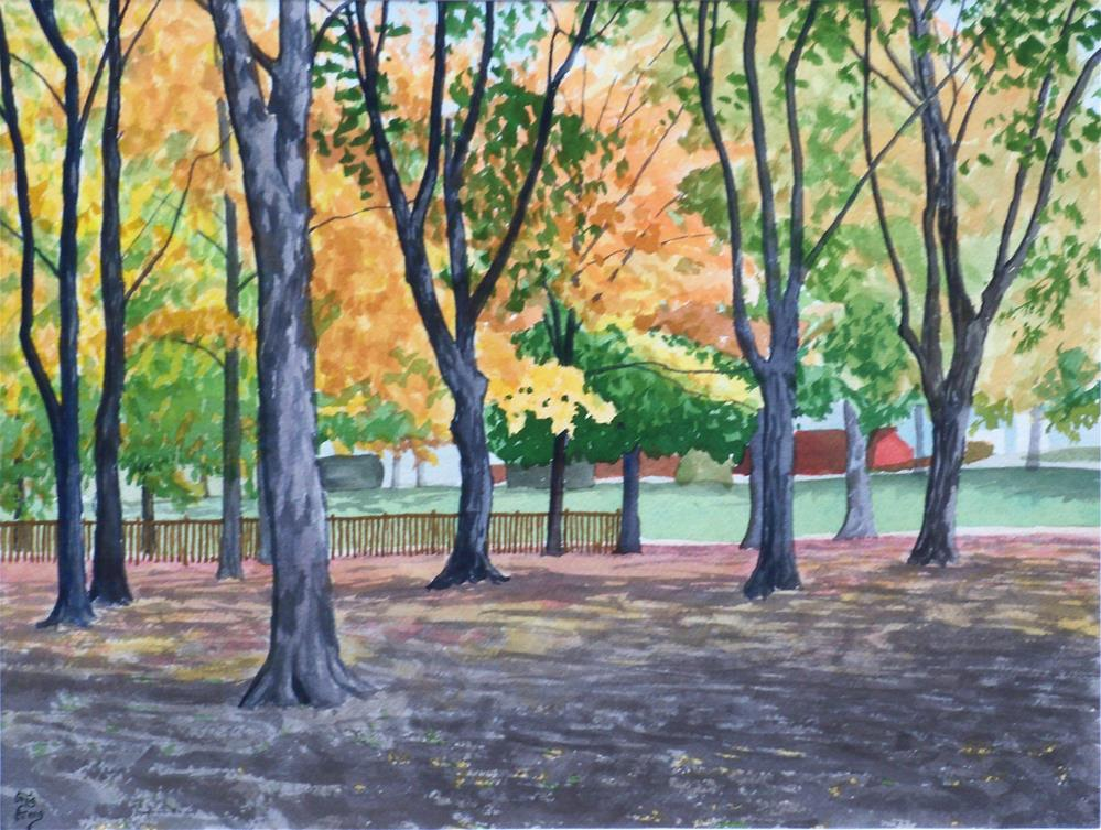 """Rayner Park"" original fine art by Greg Arens"