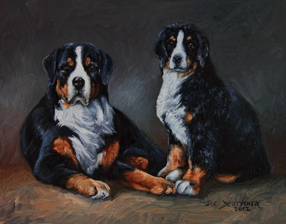 """""""Bernese Mountain Dog"""" original fine art by Sue Deutscher"""