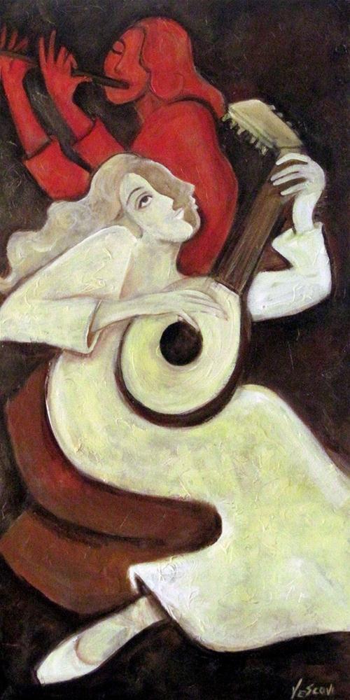 """Lute & Flute"" original fine art by Valerie Vescovi"