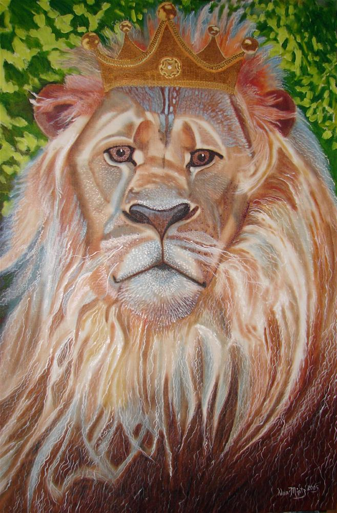 """Lion"" original fine art by Alan Mintz"