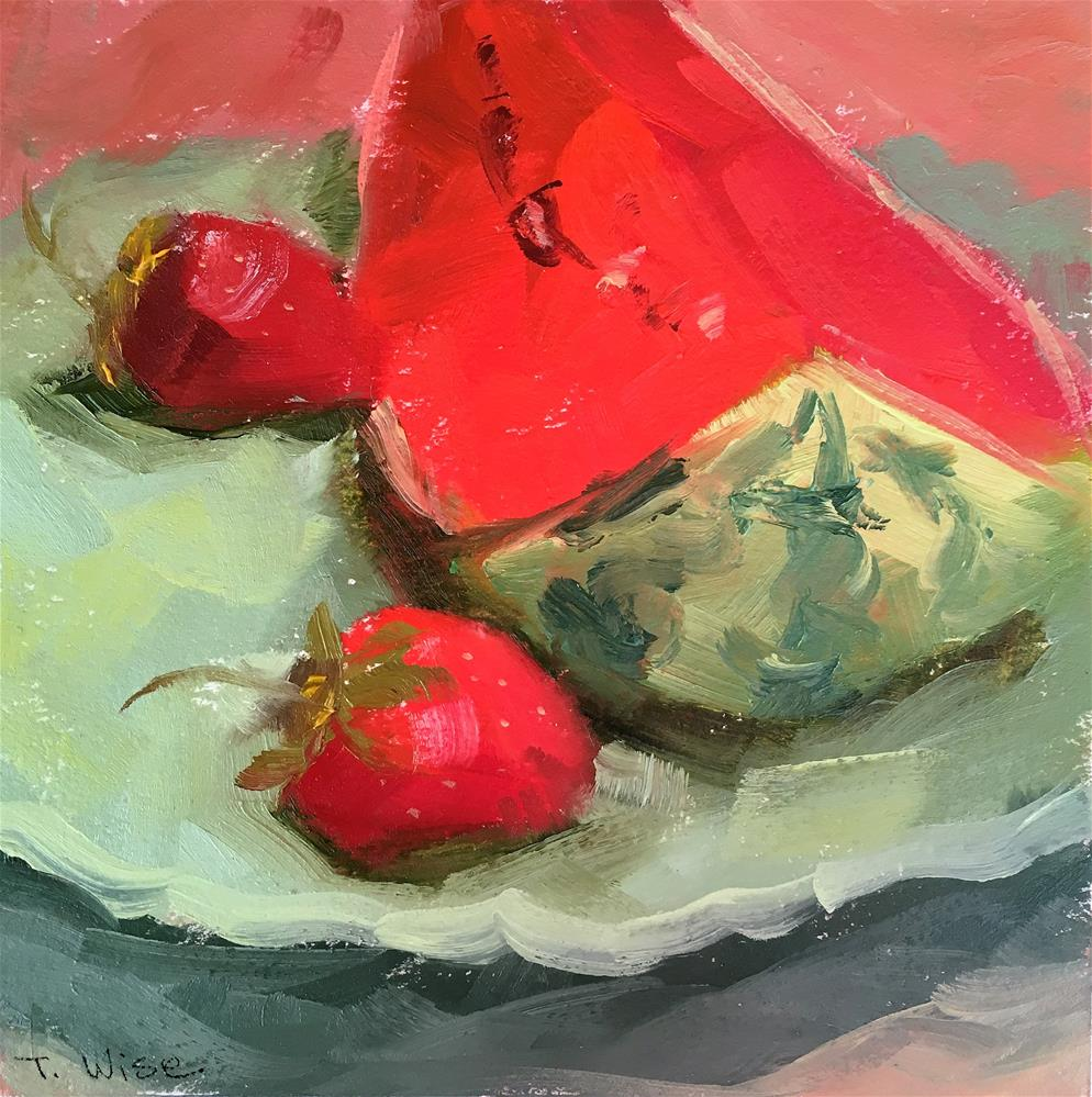 """Watermelon for Dessert"" original fine art by Tracy Wise"