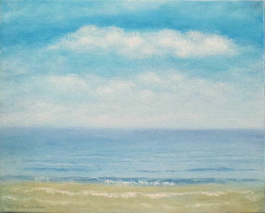 """Seascape 11"" original fine art by Mary Sylvia Hines"
