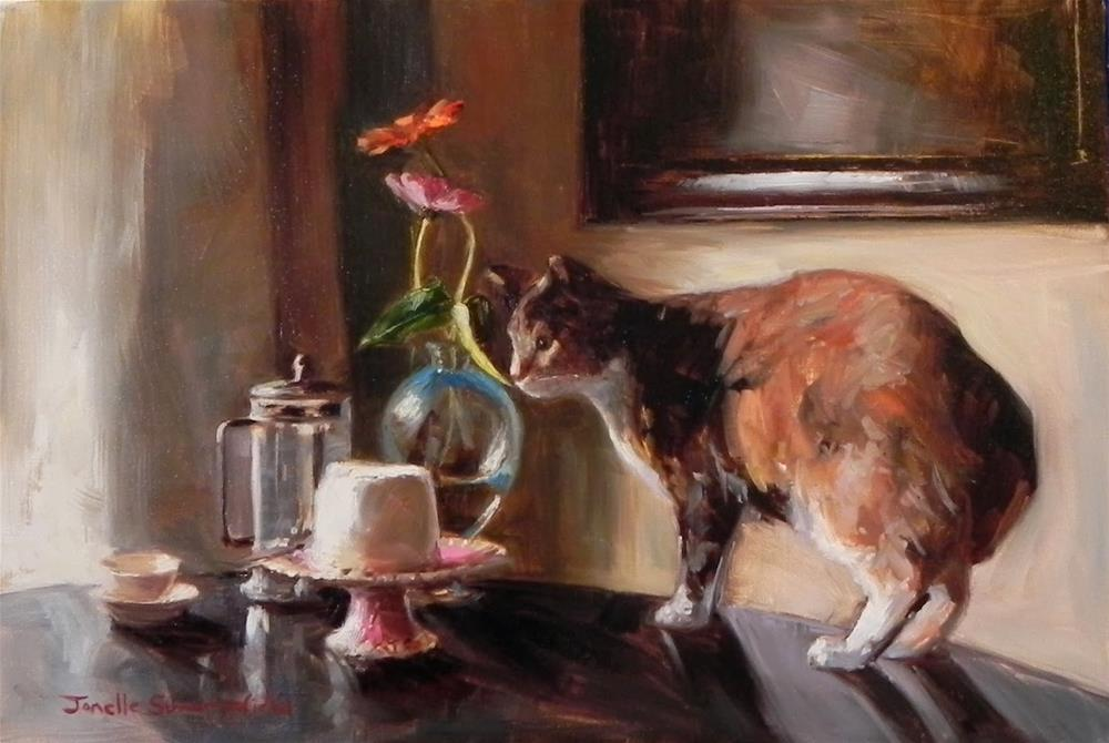 """Cake Thief"" original fine art by Jonelle Summerfield"