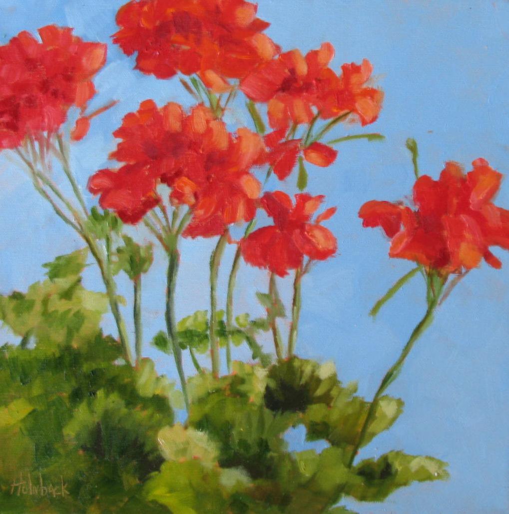 """100 Garden & Floral Oil Paintings, Original Artwork by Pam Holnback, 88/100"" original fine art by Pam Holnback"