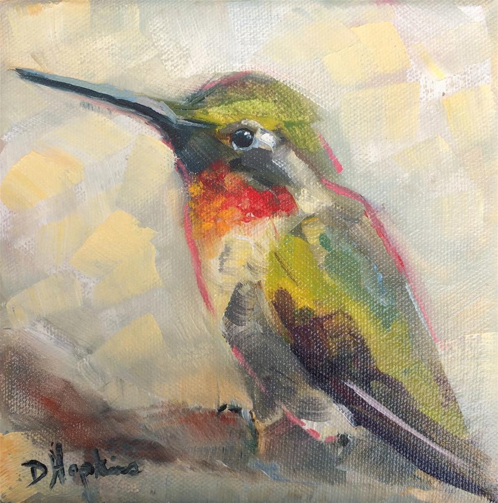 """""""Darting Bird"""" original fine art by Denise Hopkins"""