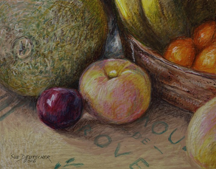 """Fruit, Basically"" original fine art by Sue Deutscher"