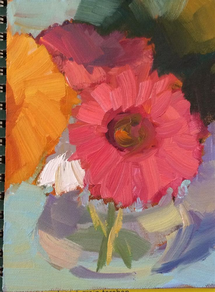 """Bright Flowers"" original fine art by Naomi Bautista"