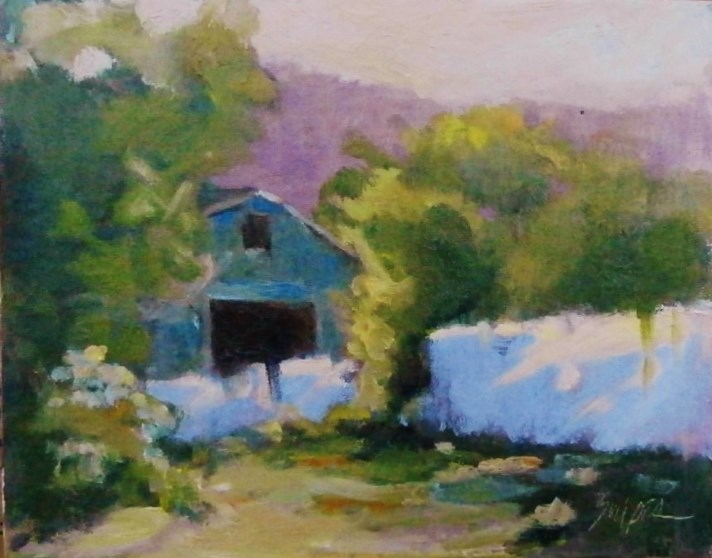 """Working Farm, Fairview, NC"" original fine art by Connie Snipes"