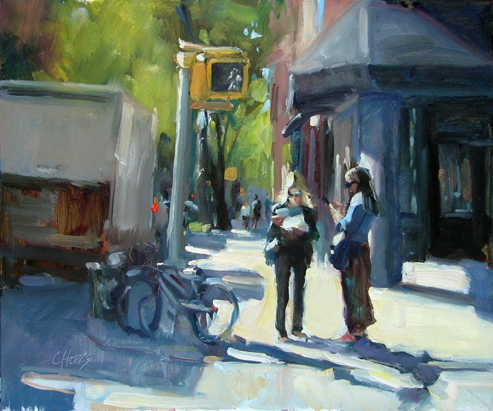 """MapQuest"" original fine art by Robin Cheers"