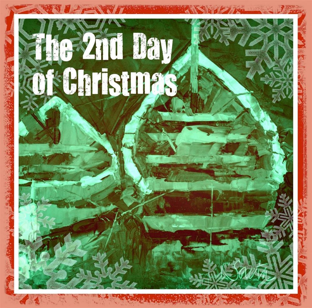 """The 12 Days of Christmas - Day 2"" original fine art by Leslie Saeta"