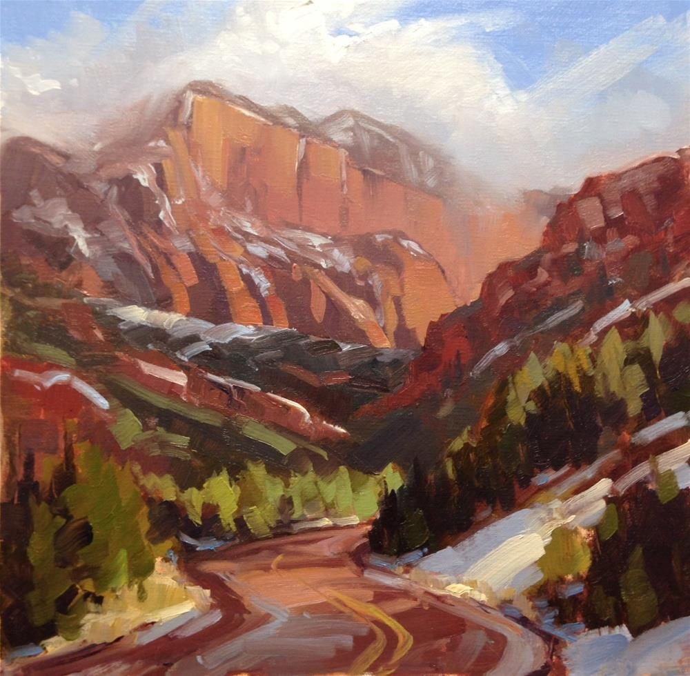 """First Snow - Kolob"" original fine art by Mary Jabens"
