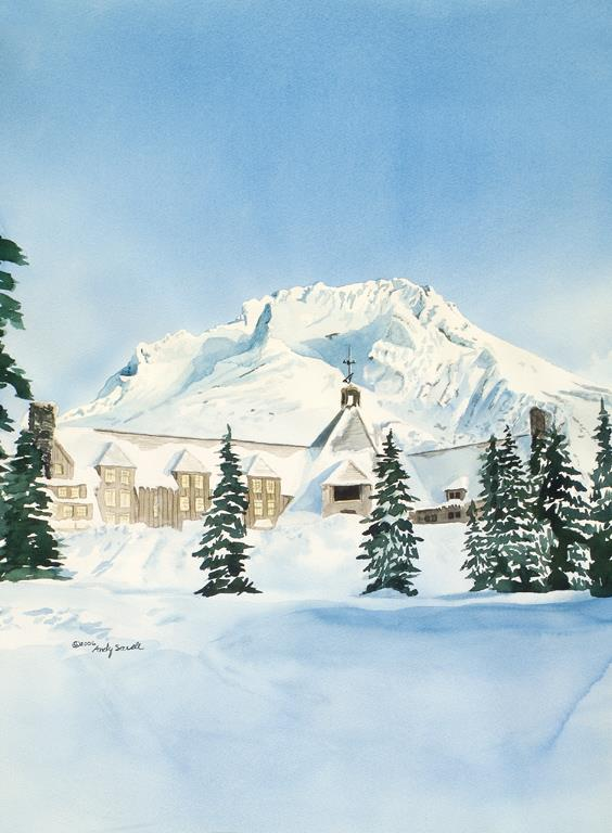 """Mt. Hood Timberline"" original fine art by Andy Sewell"