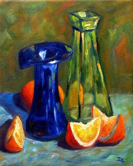 """Hiding in the shade"" original fine art by Irina Beskina"