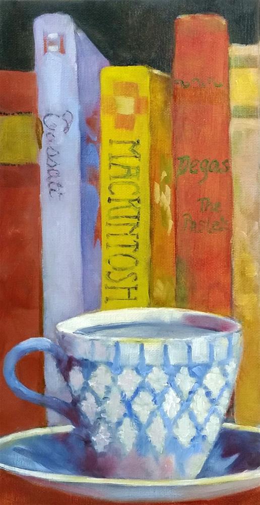 """""""Books, Take Me Away"""" original fine art by De Selby"""