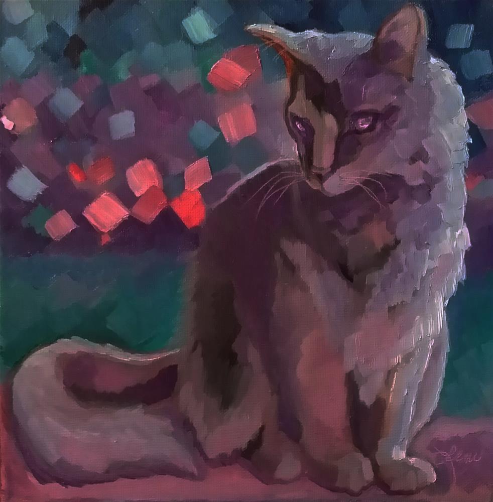"""Kitty Moment"" original fine art by Leni Tarleton"