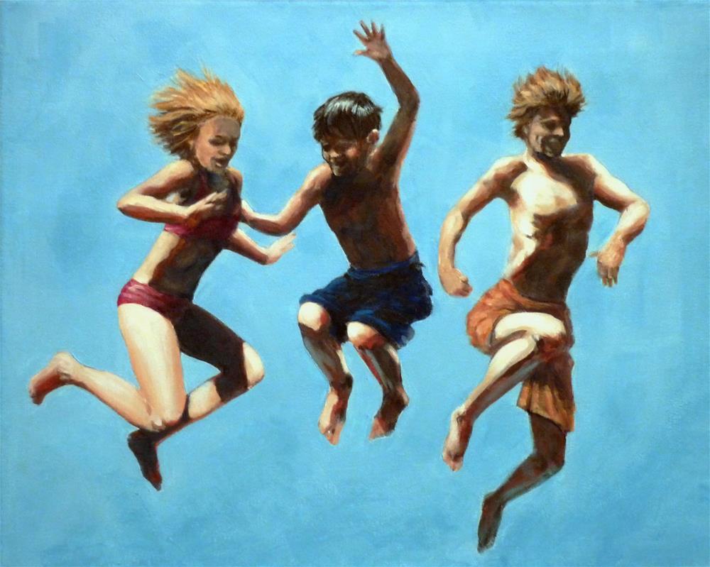 """""""Last One In!"""" original fine art by Helene Adamson"""