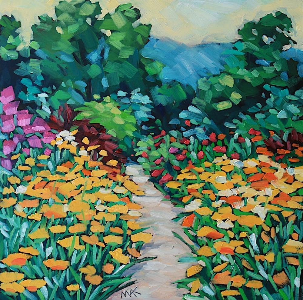 """Summer Path"" original fine art by Mary Anne Cary"