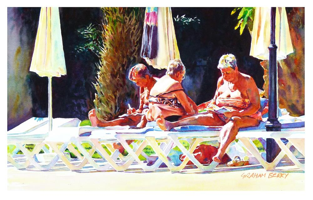 """Golden girls"" original fine art by Graham Berry"