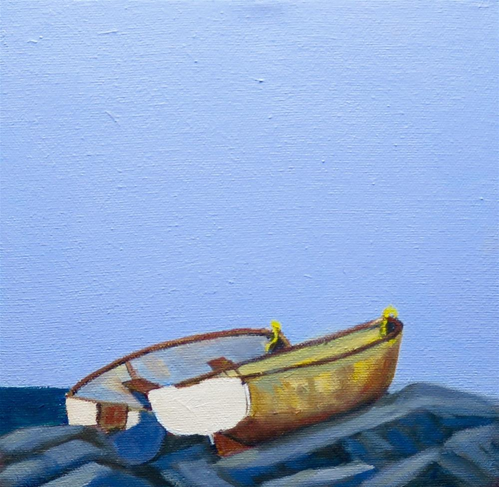 """LITTLE BOATS II"" original fine art by Deborah Czernecky"