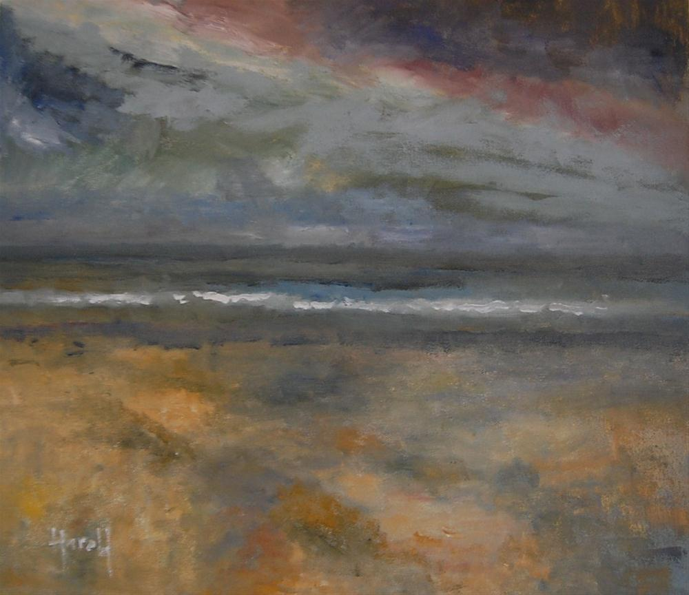 """Coastal Storm"" original fine art by Deborah Harold"