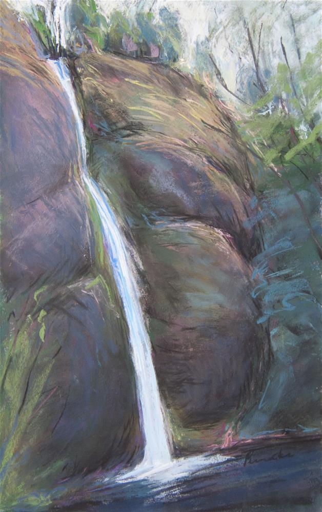 """Horsetail Falls (Columbia River Gorge)"" original fine art by Sarah Peroutka"