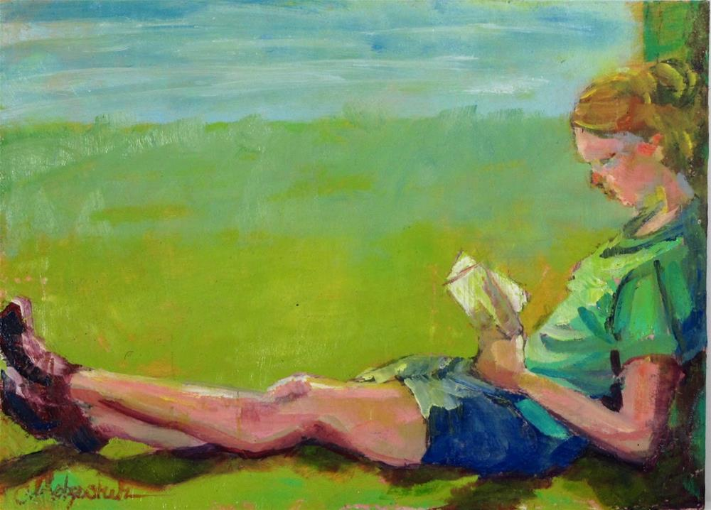 """Taking a Break"" original fine art by Christine Holzschuh"