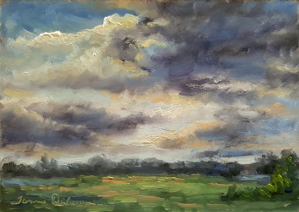 """Skies of May"" original fine art by Tammie Dickerson"